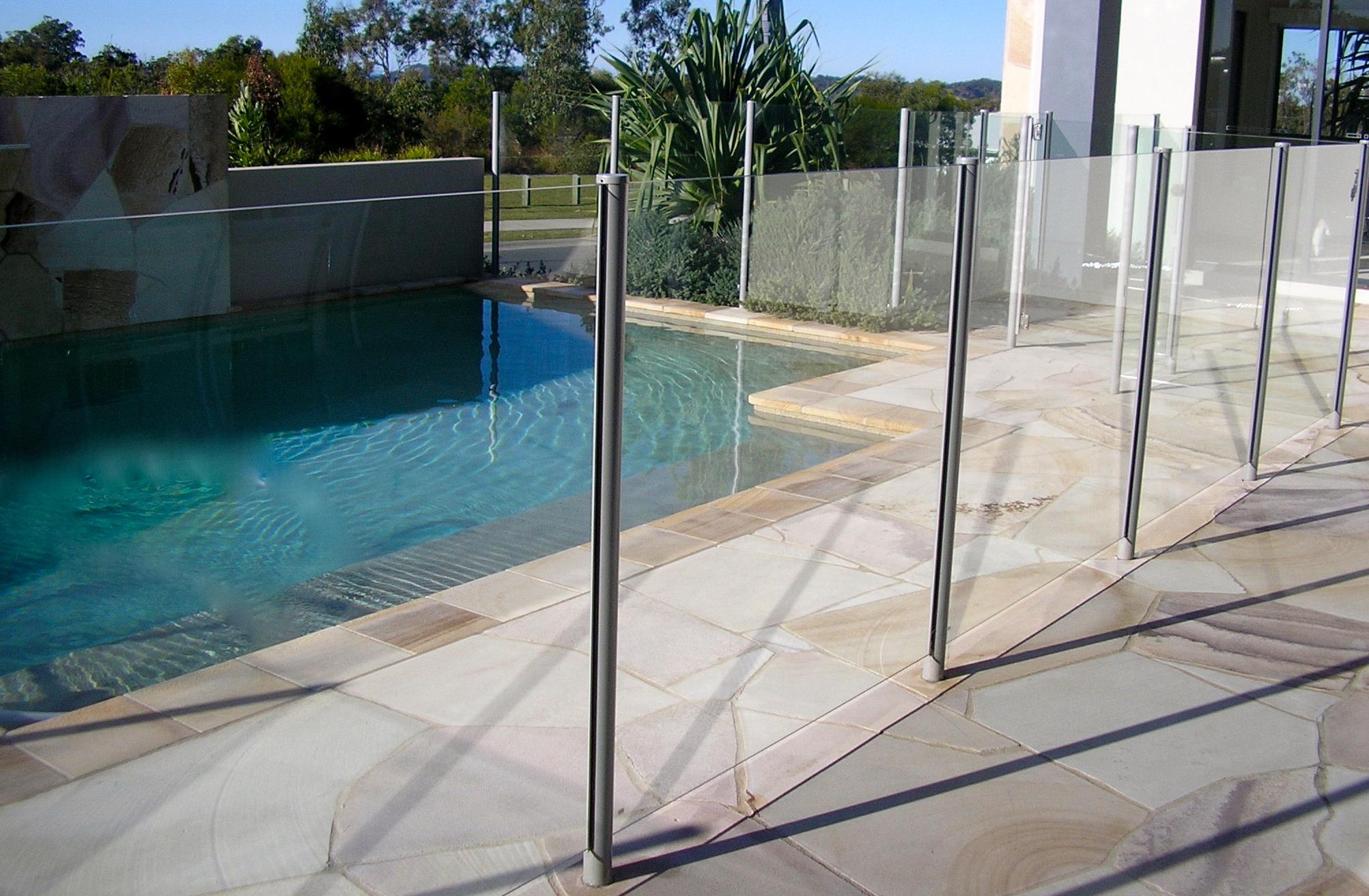 Semi frameless glass pool fence -  Glass Pool Fencing Brisbane Frameless Pool Fencing Gold Source Pool Fencing Gold Coast And Brisbane