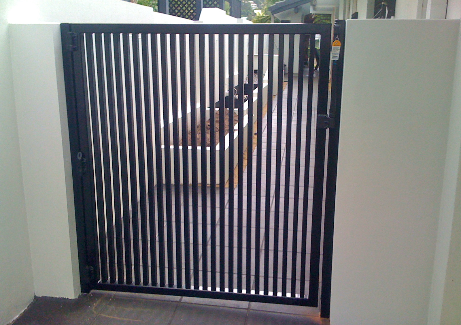 Vertical bar pedestrian gate