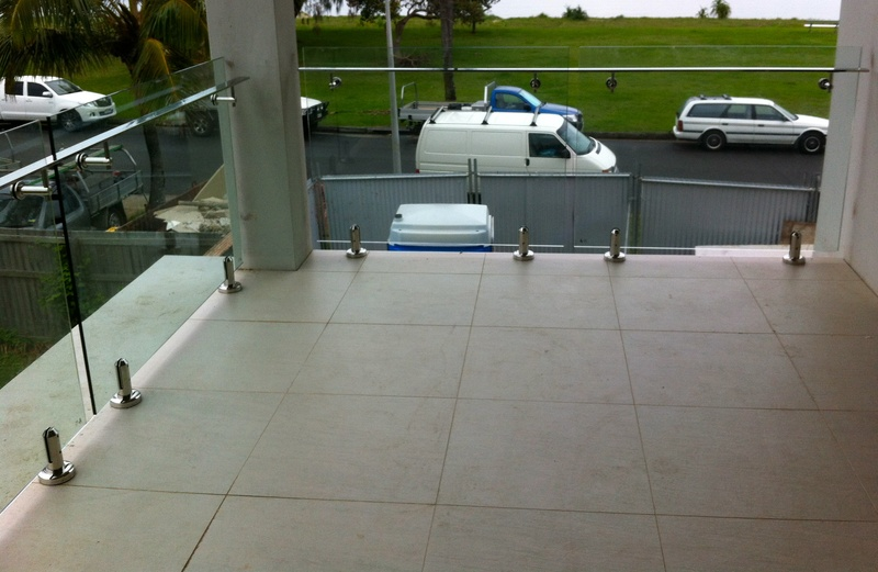 Frameless Glass Balustrade with railing